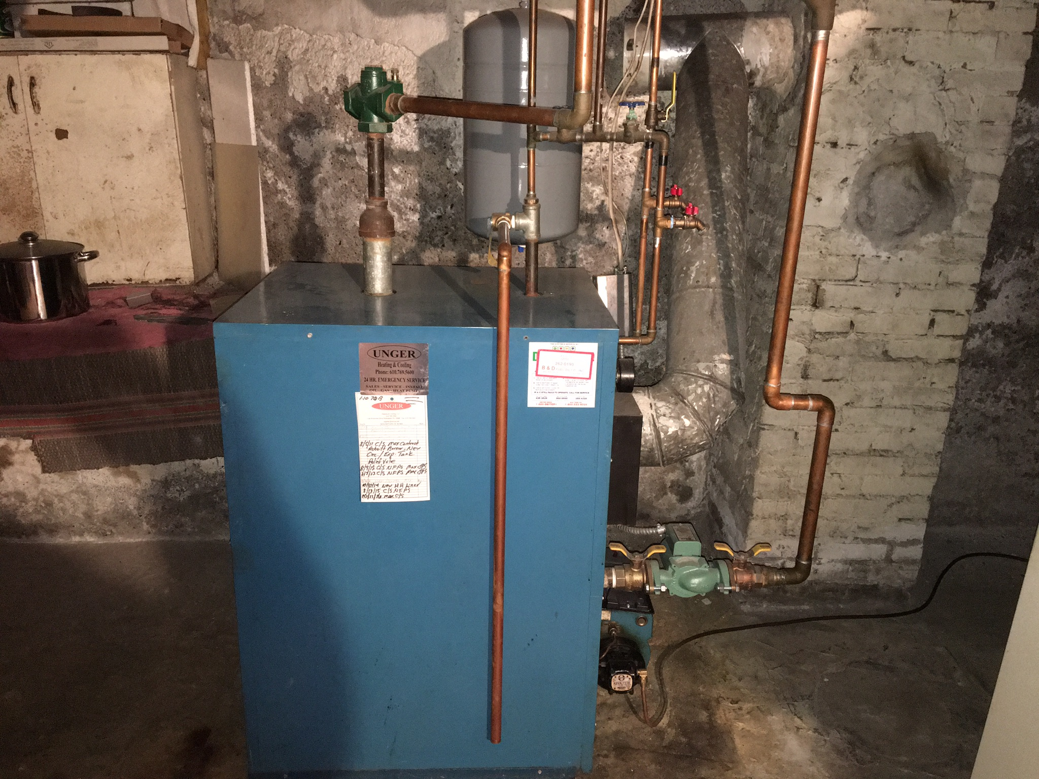 Oil boiler to Lochinvar Noble Natural gas combi boiler — Heating ...