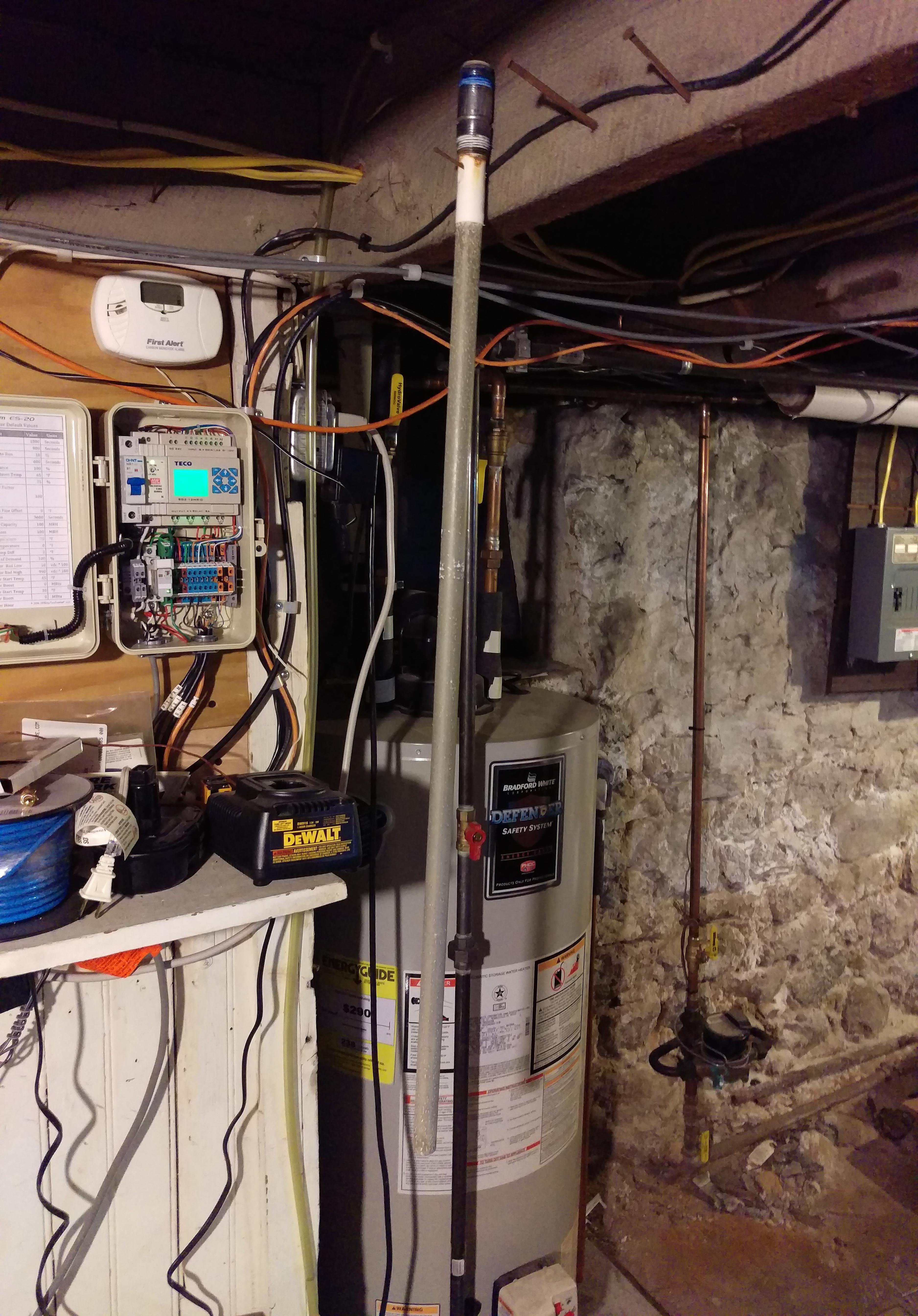 Bending An Anode Rod Heating Help The Wall