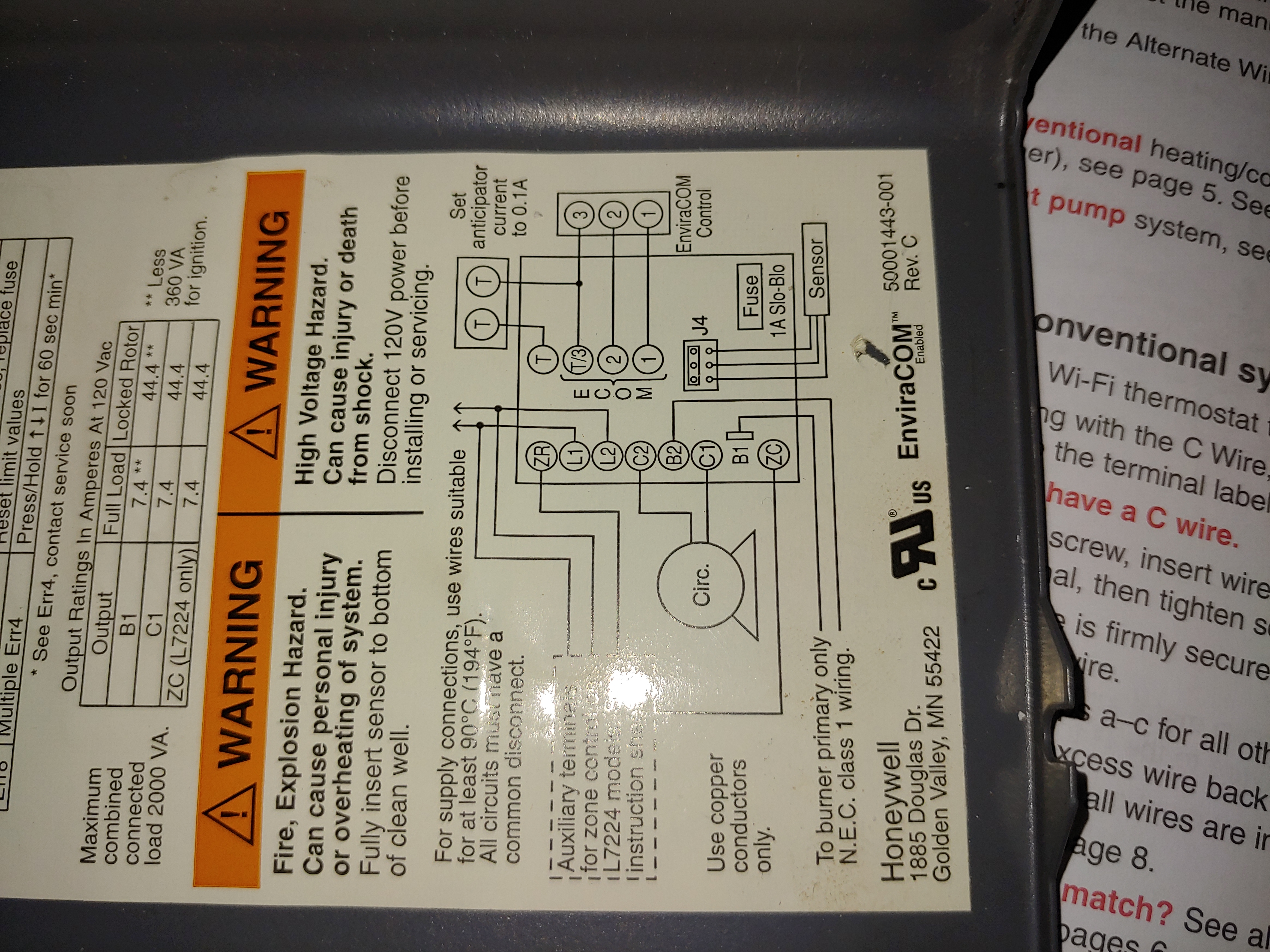 Wiring Honeywell Thermostat 2 Wires