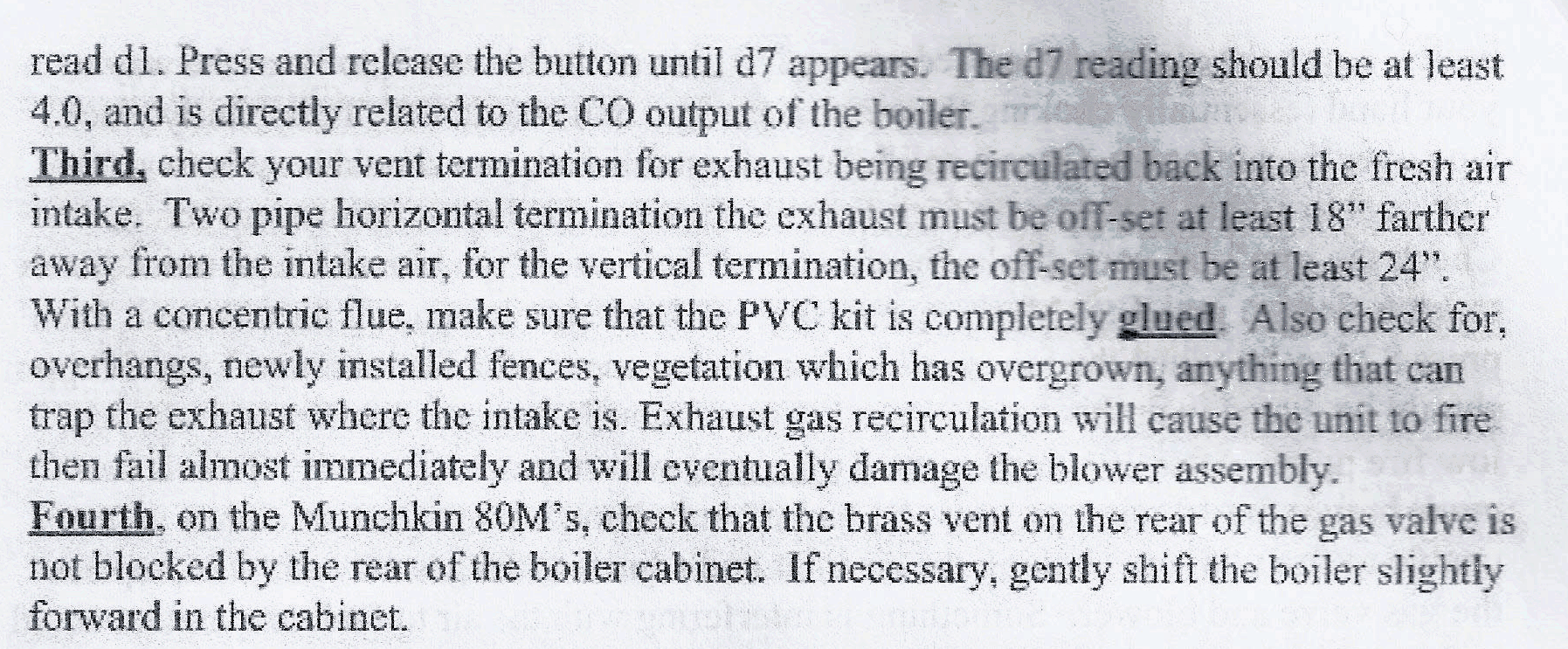 Munchkin T80M Boiler low fire induced rumble — Heating Help: The Wall