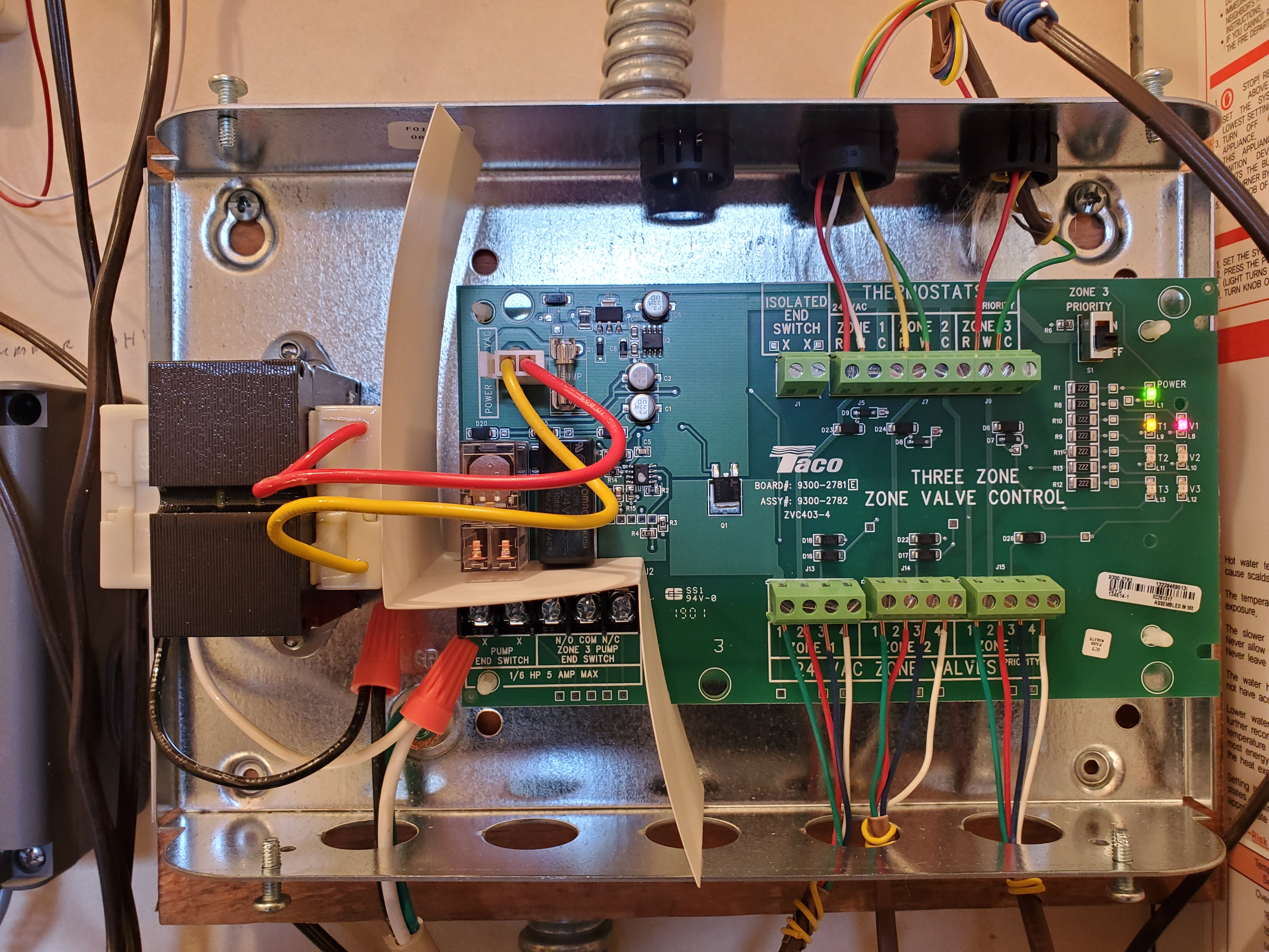 taco 503 switching relay wiring diagram taco s zone lights not coming on     heating help the wall  taco s zone lights not coming on