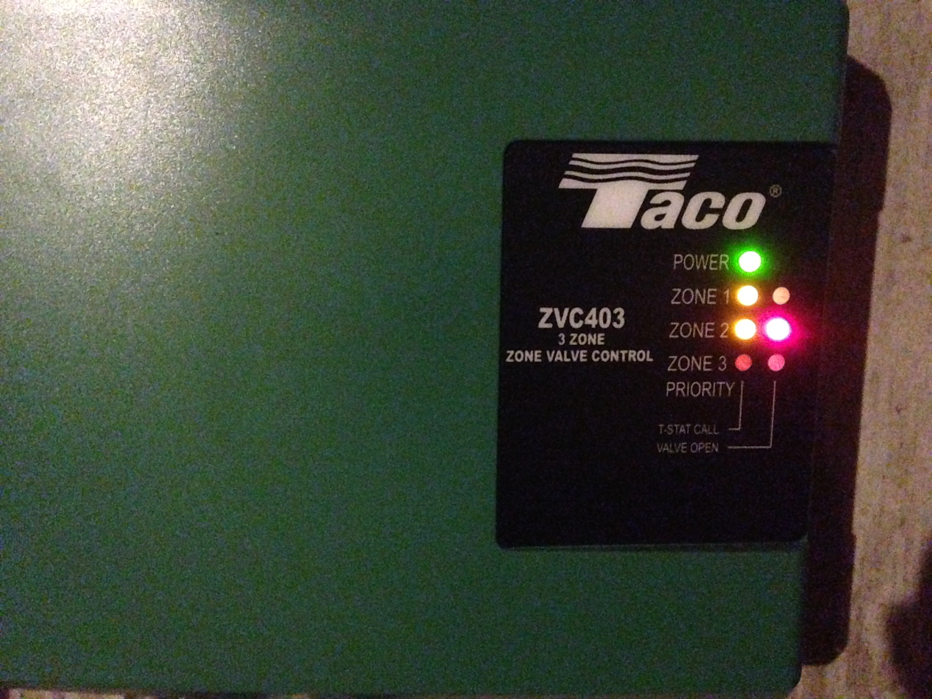 Taco Zvc403 Issue Heating Help The Wall 571 Zone Valve Wiring Img 2385