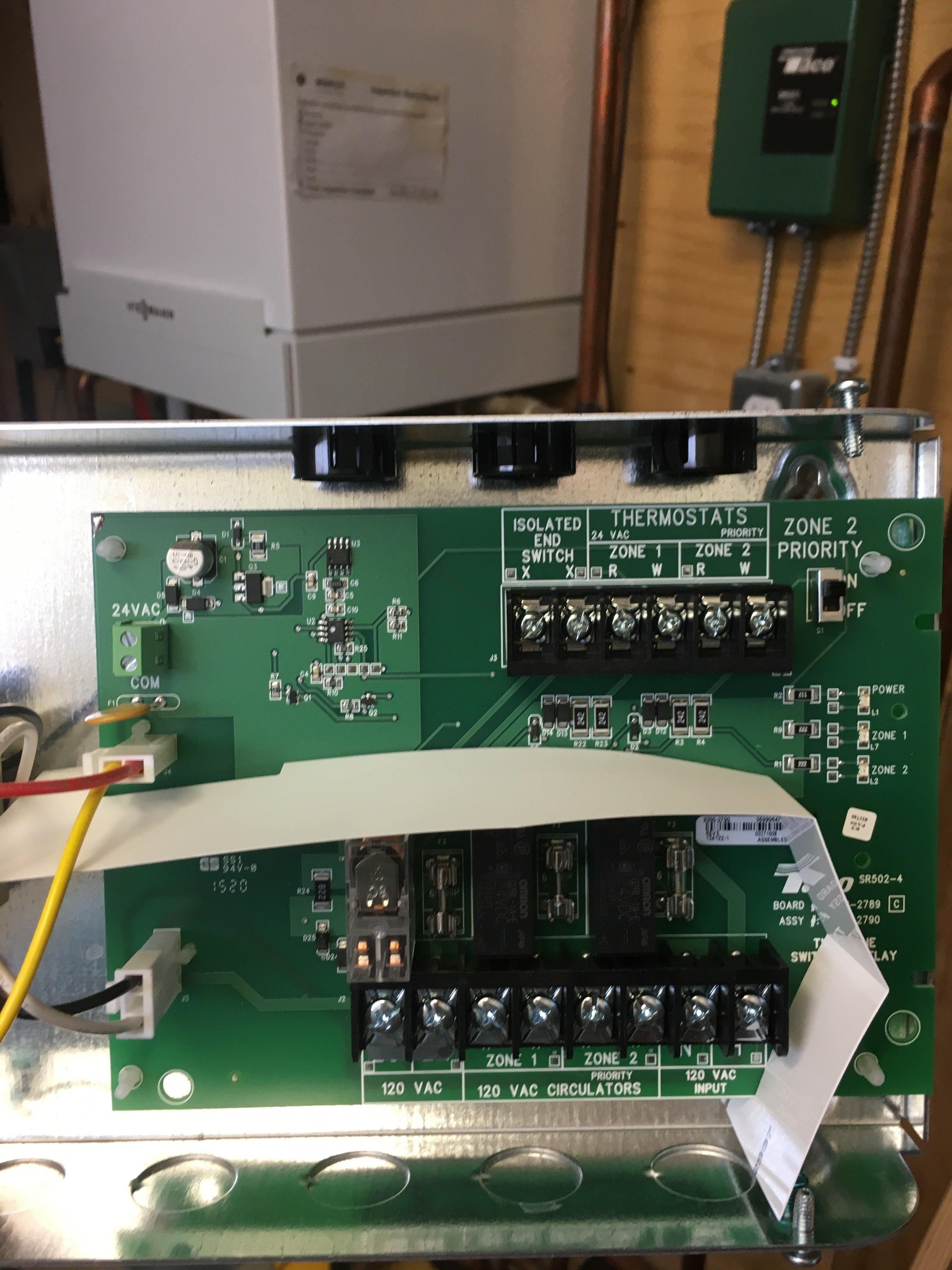 Taco Sr502 Wiring Diagram 2 Zone - Wiring Diagrams Schema