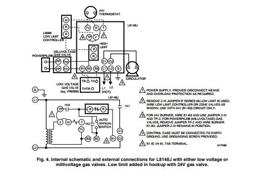 honeywell gas valve wiring diagram internal  residential