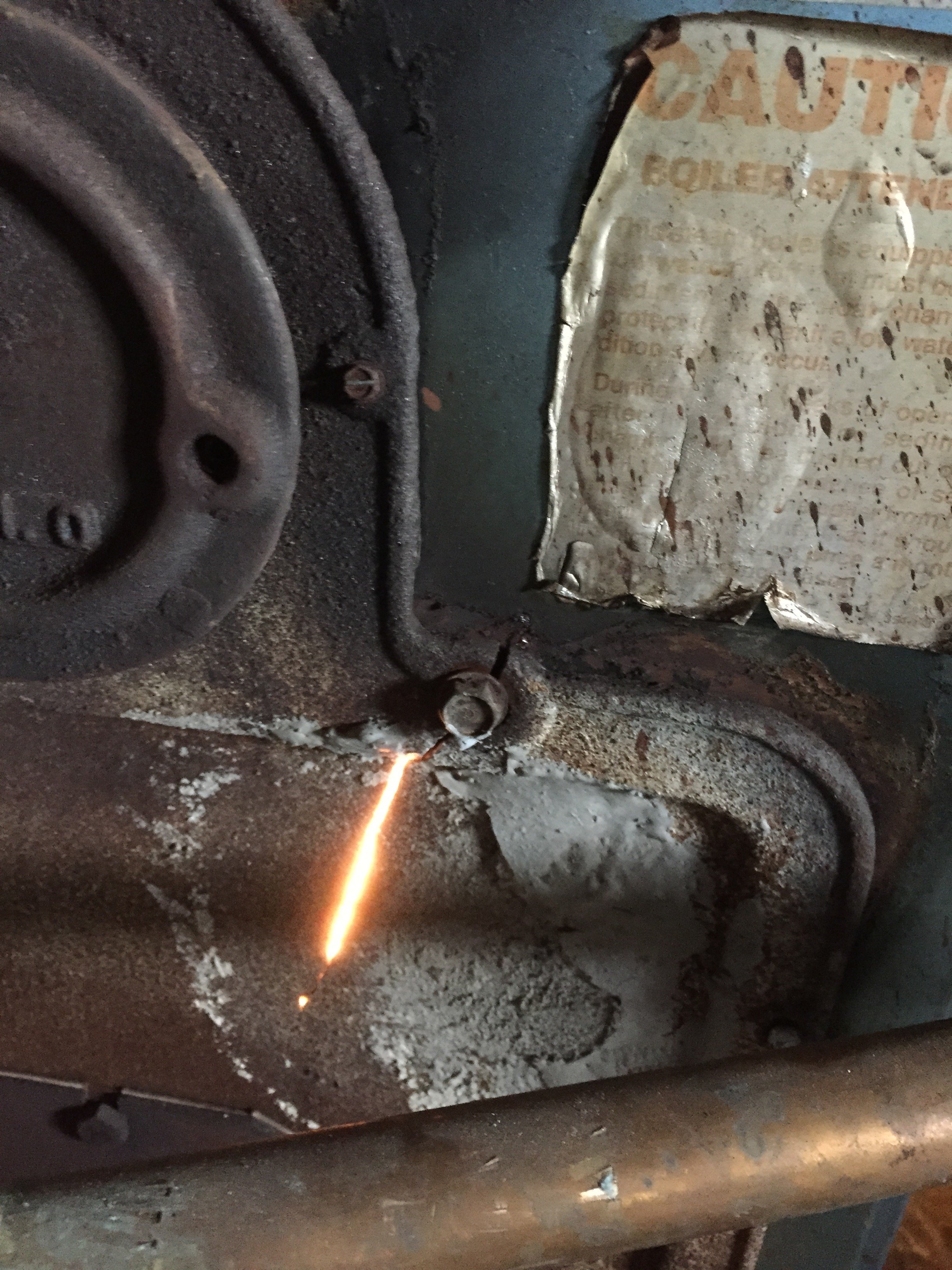 Crack in Boiler Cover — Heating Help: The Wall