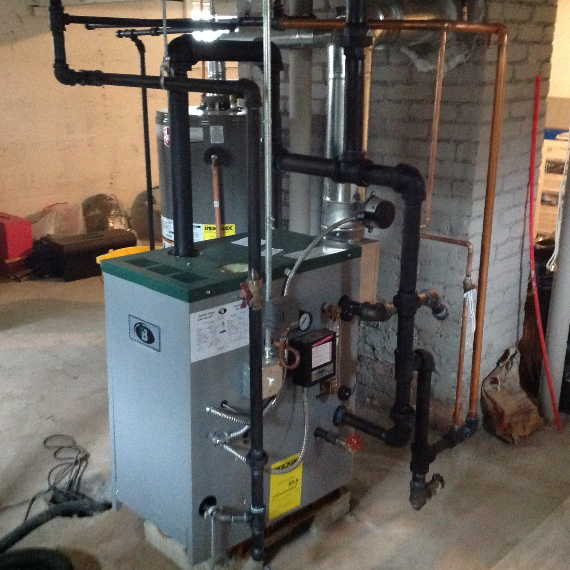 Third steam boiler in 18 years — Heating Help: The Wall