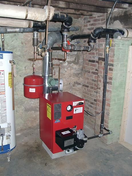 sooted up gas boiler — Heating Help: The Wall