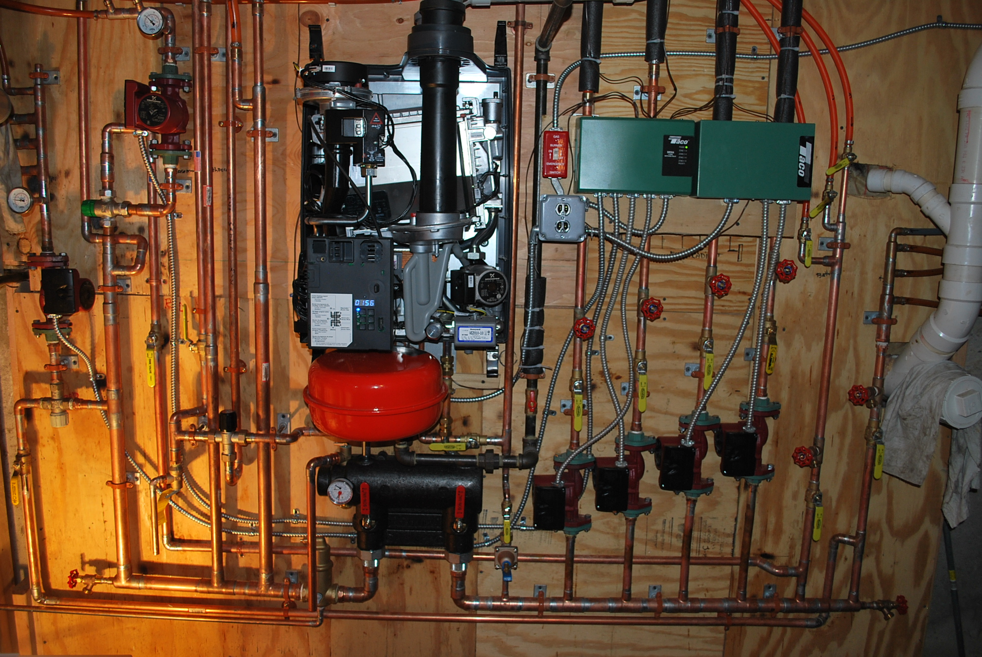 Piping Radiant Heat Mixing Valve Heating Help The Wall