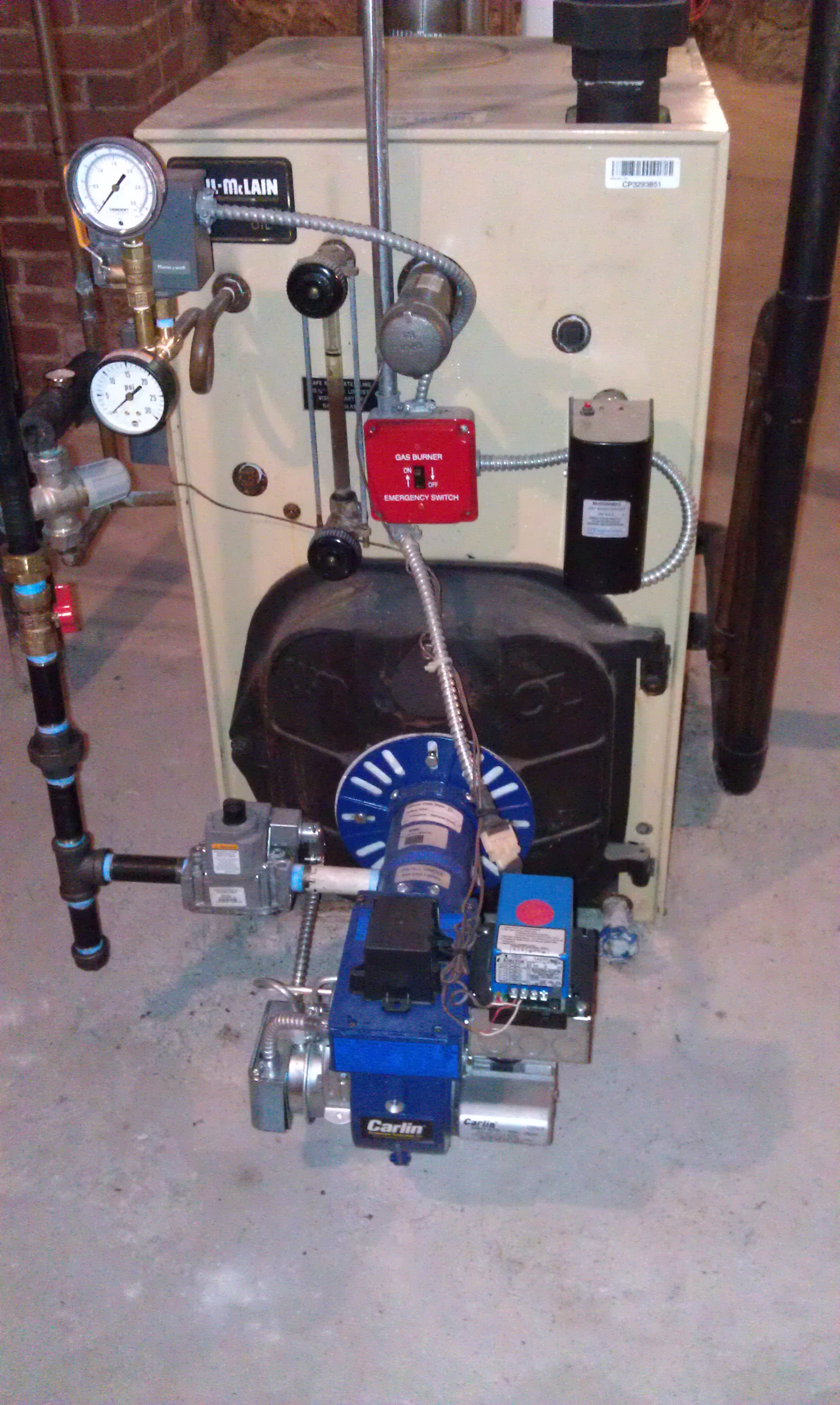 gas conversion, tankless coil not performing — Heating Help: The Wall