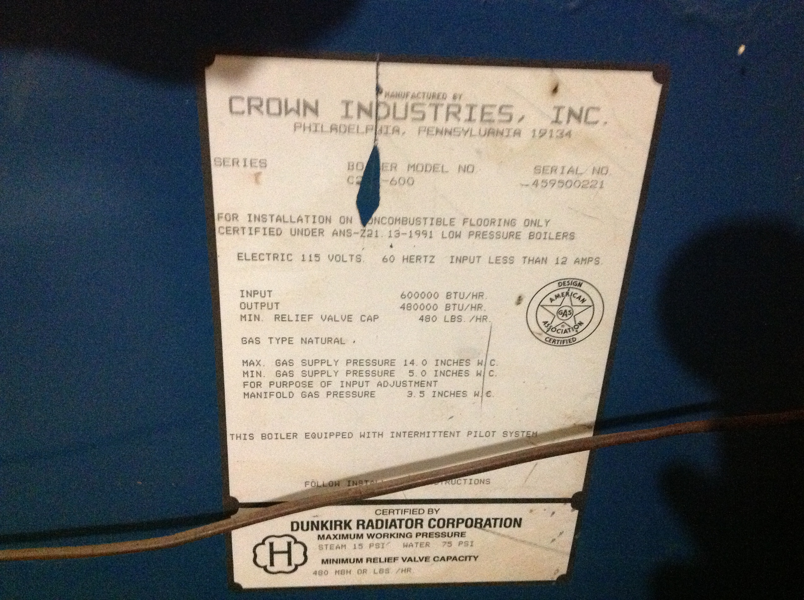 Best replacement for old Crown c-247 steam boiler — Heating Help ...