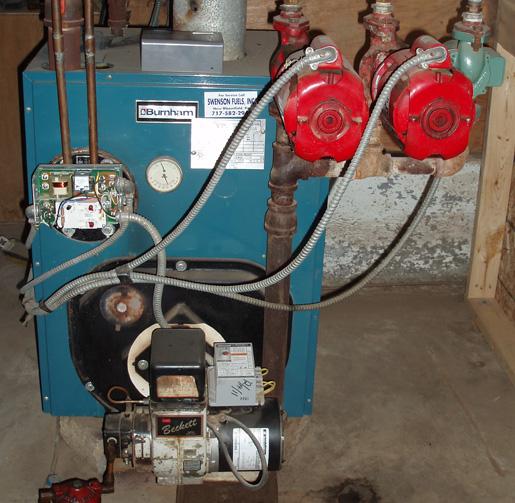 Coil For Burnham Boiler ~ Oil furnace runs for two sec — heating help the wall