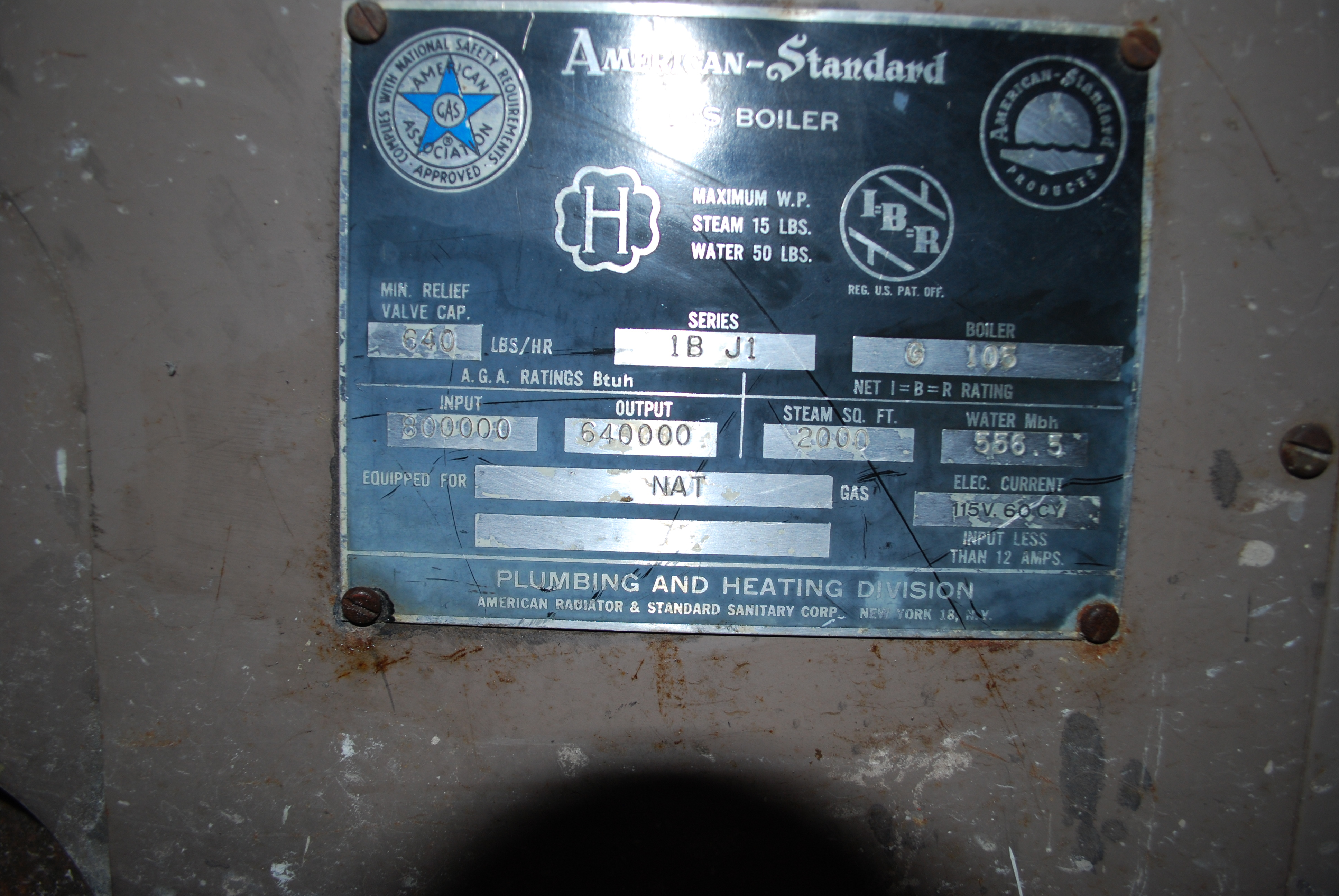Need User Owners Manual For Old American Standard Boiler