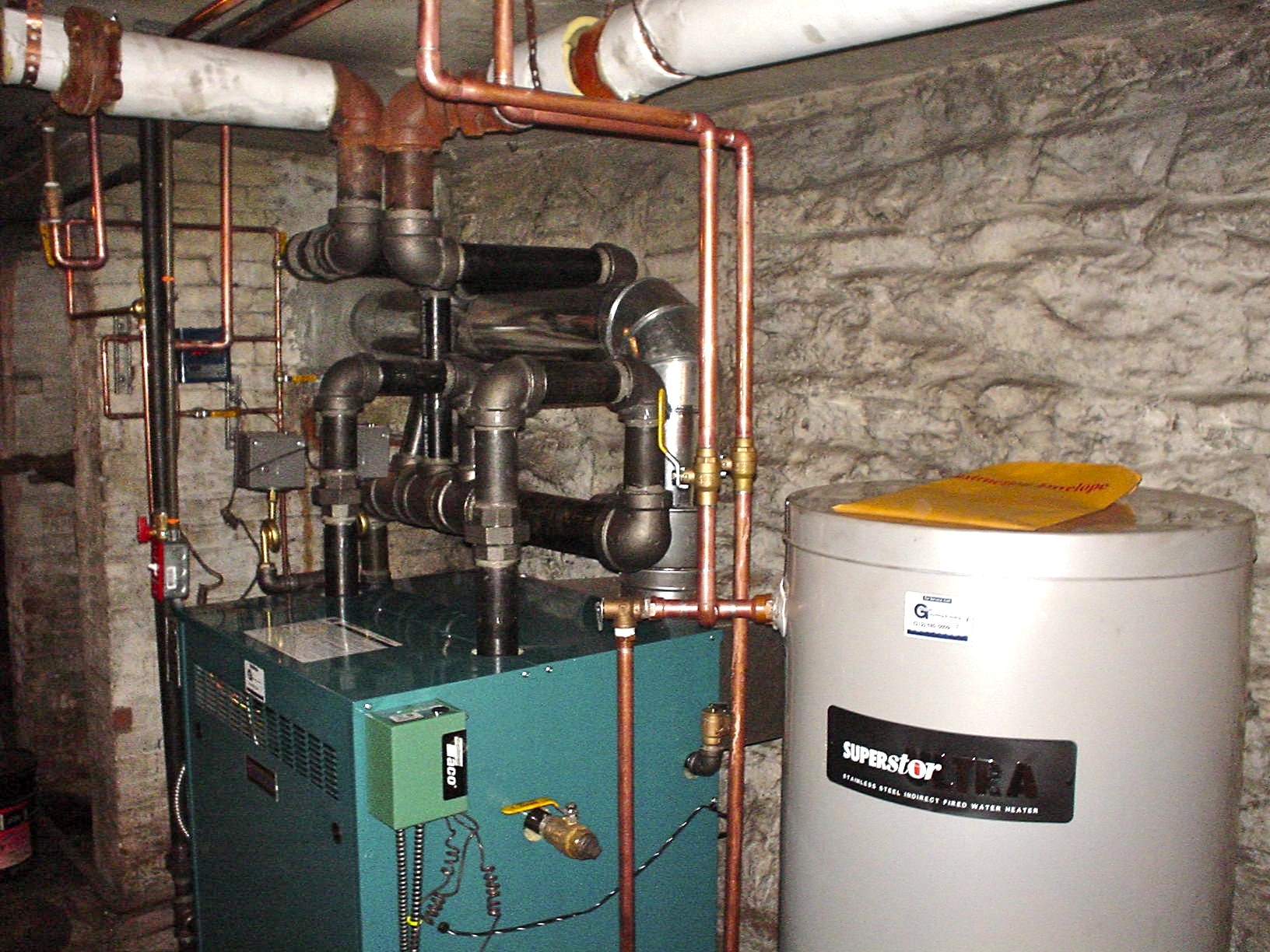 Tankless Water Heater in Gas-Fired Steam Boiler — Heating Help: The Wall