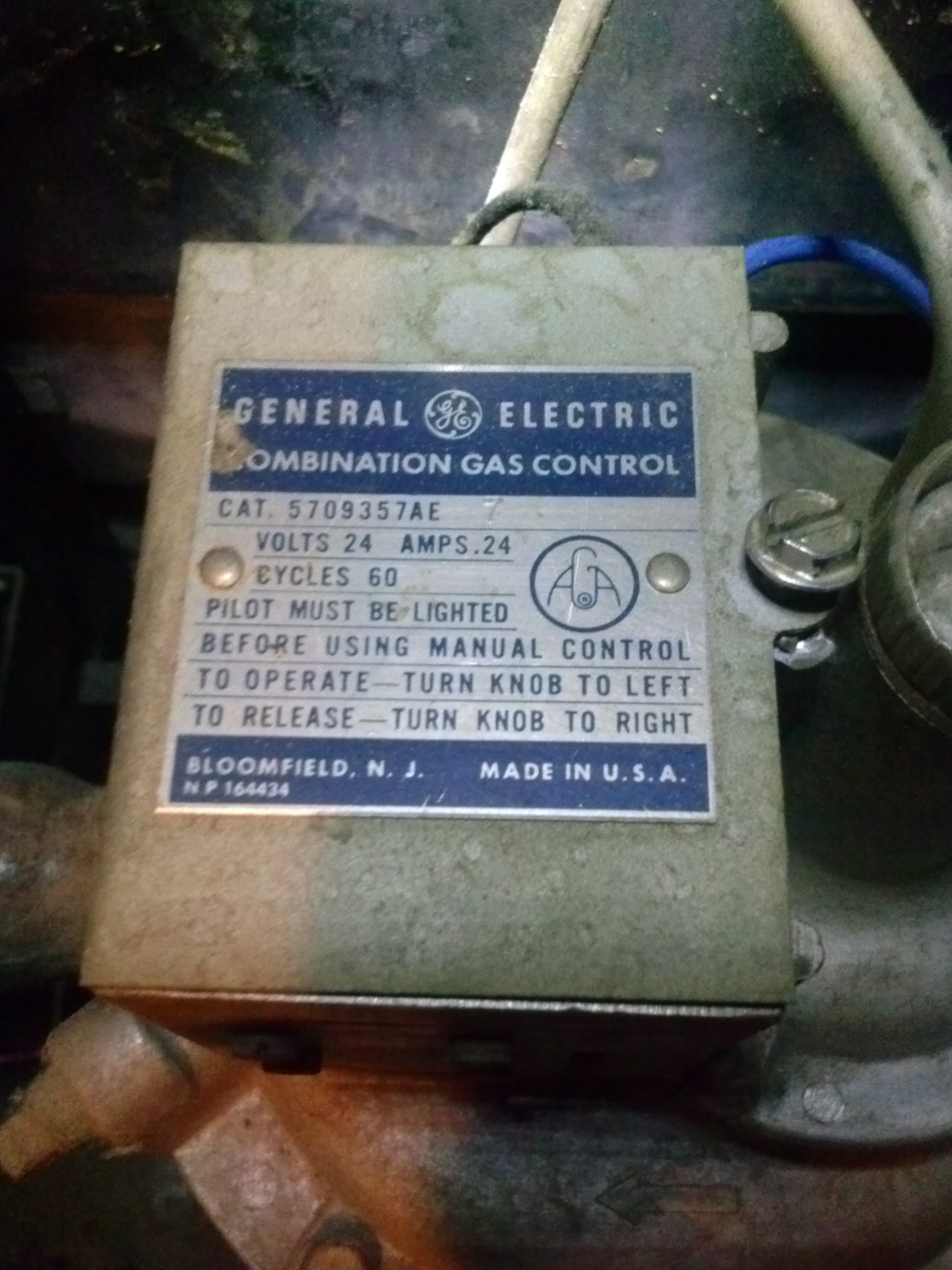 General Electric Gas Boiler — Heating Help: The Wall