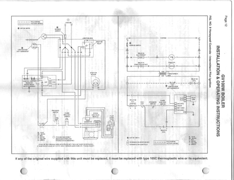 smith gas boiler gv 100 intermittent problem heating help the wall rh forum heatinghelp com Boiler Control Wiring Commercial Boiler Wiring