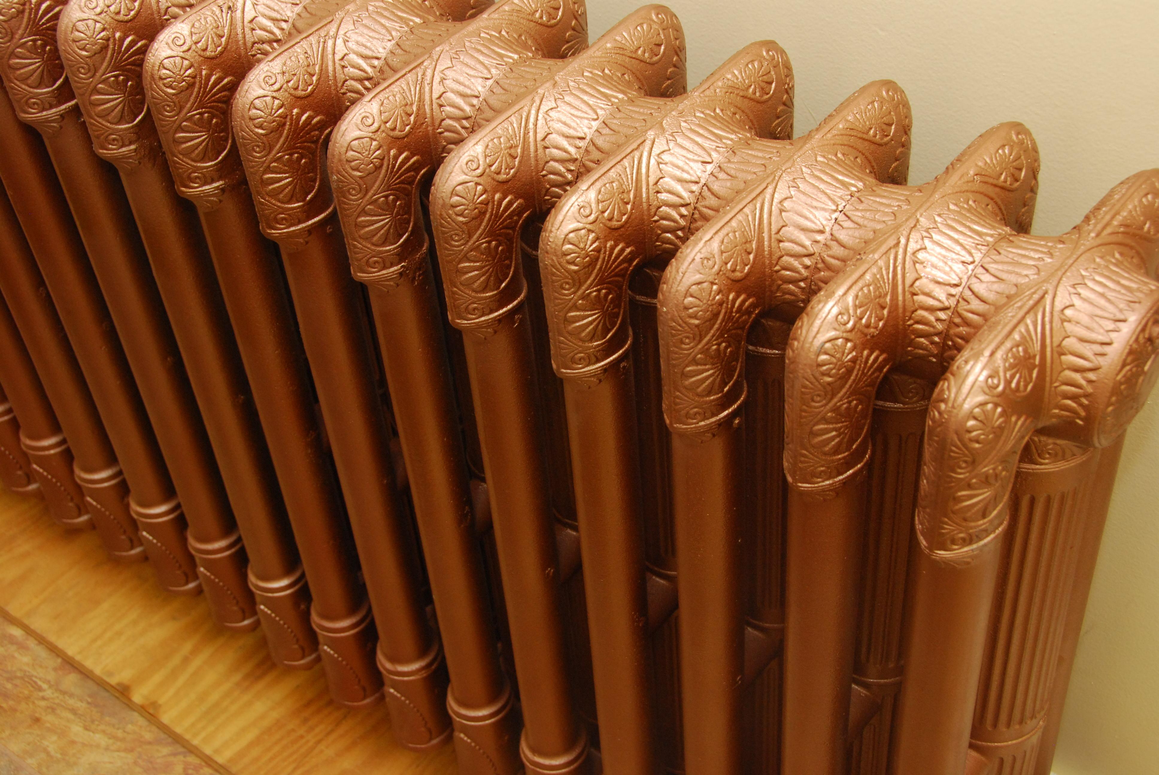 Refinished Rads In Rustoleum Hammered Copper Heating