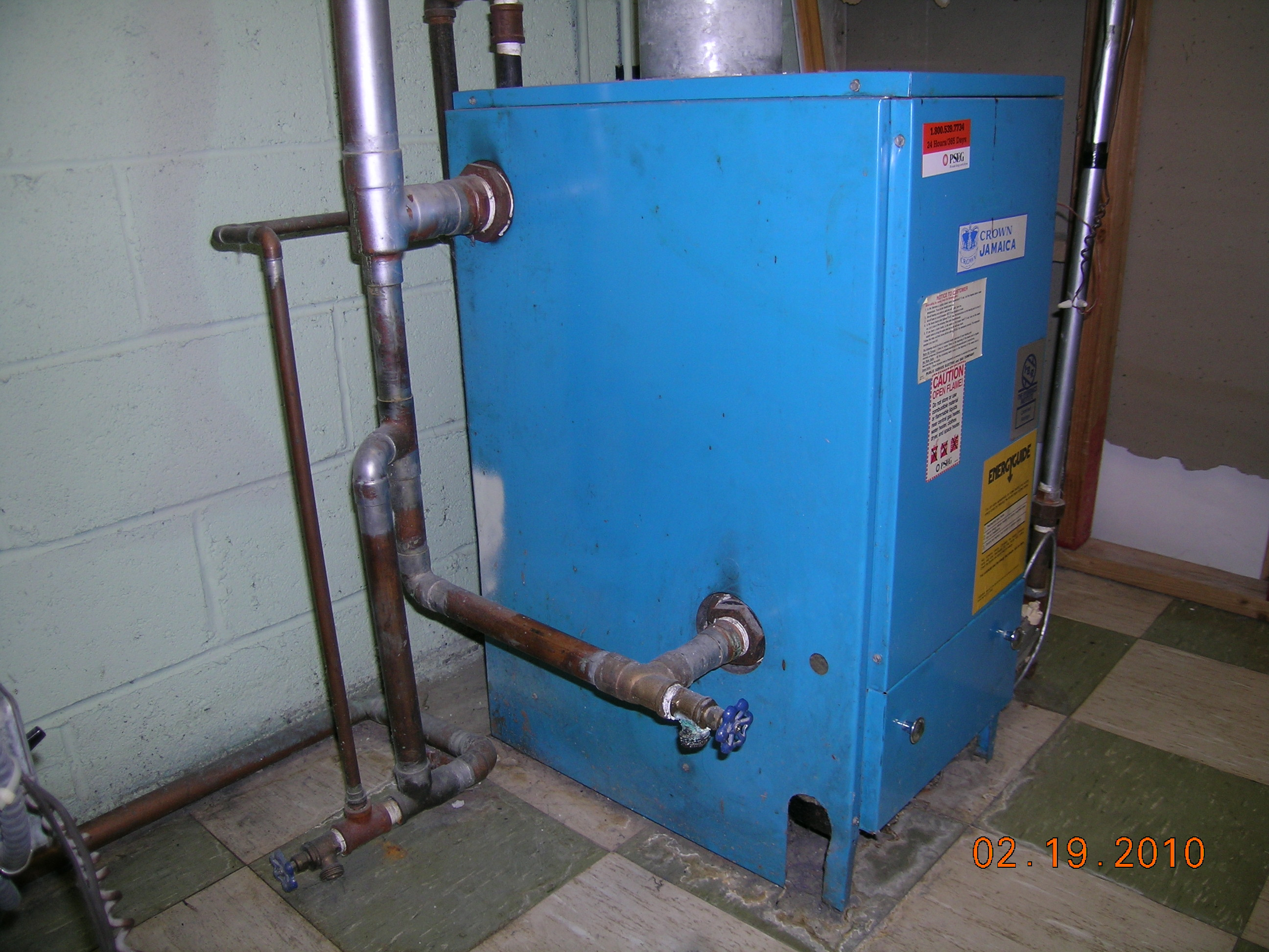 How to deal with this dripping from the gas steam boiler? — Heating ...