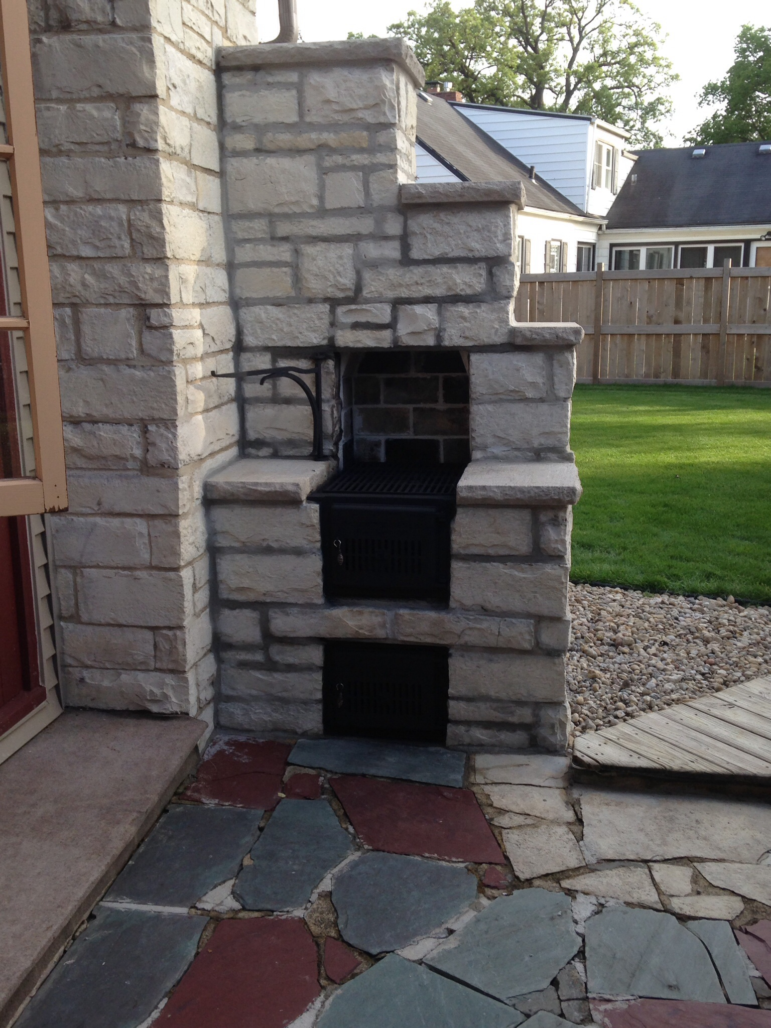 donley bros co vented ash clean out u2014 heating help the wall