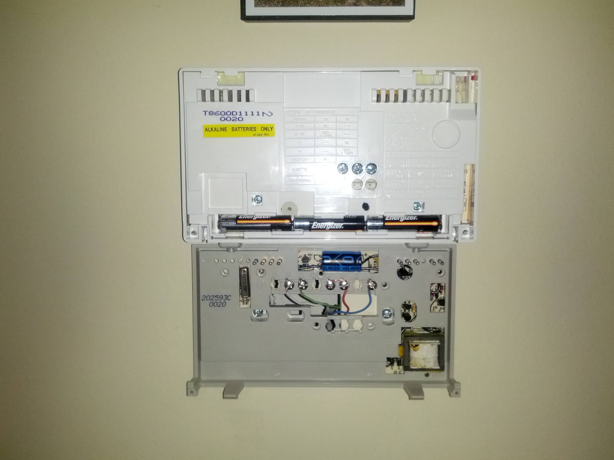 Honeywell T8600 D Stat Problems? — Heating Help: The Wall