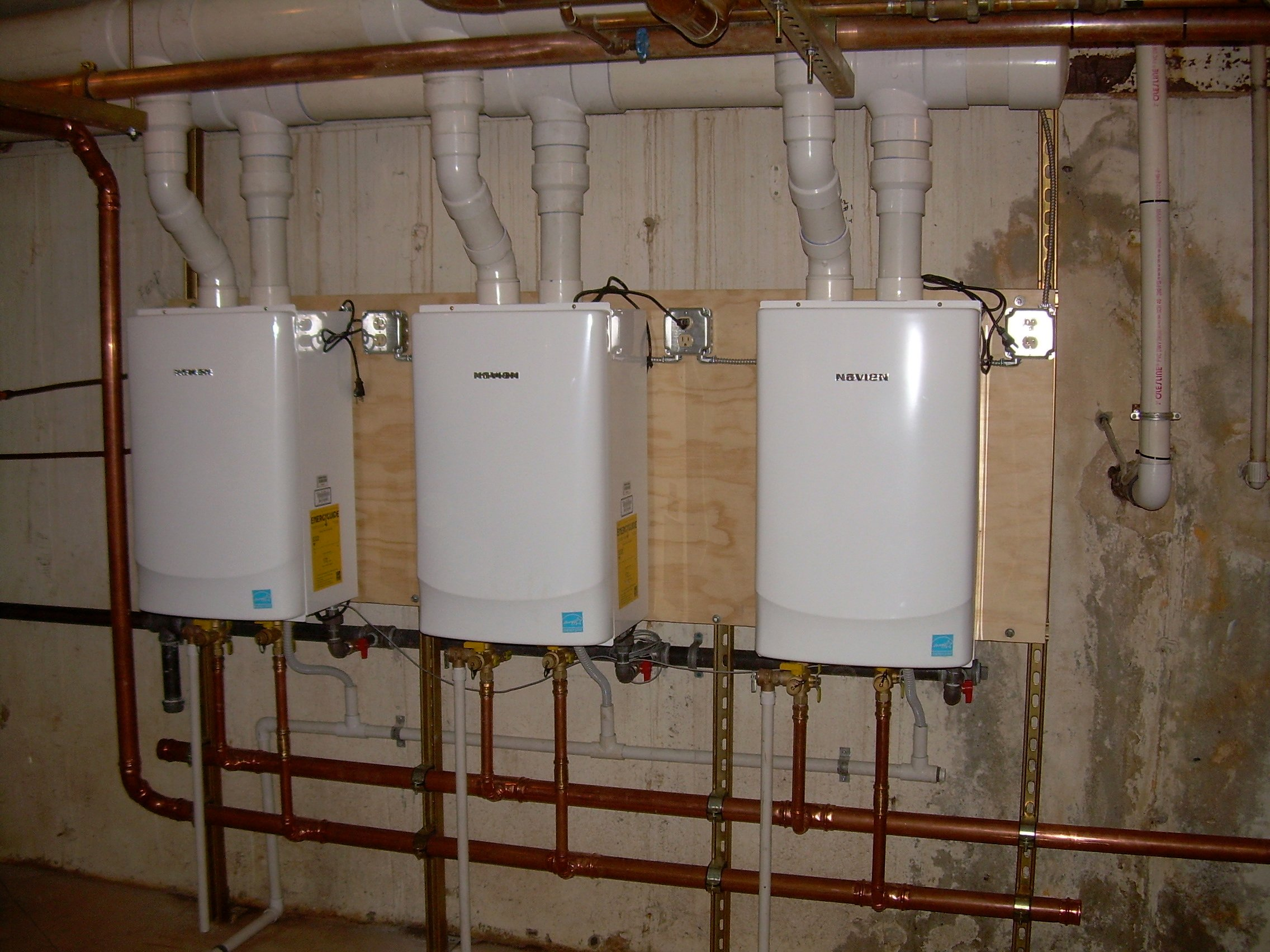 Navien Tankless Water Heater Venting : Navien tankless a big mistake — heating help the wall