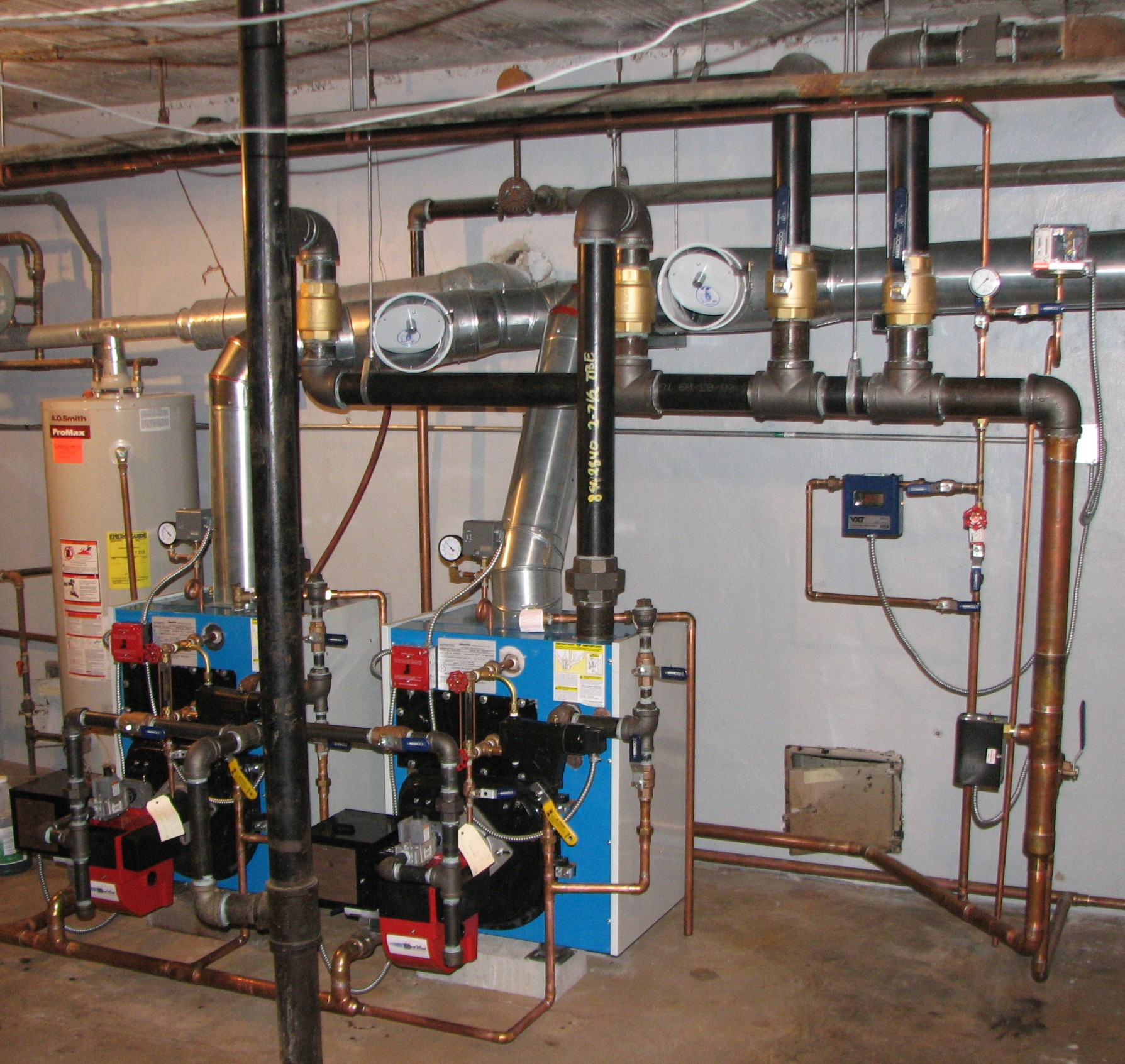 slant fin boiler wiring diagram two steam boilers in parallel? — heating help: the wall