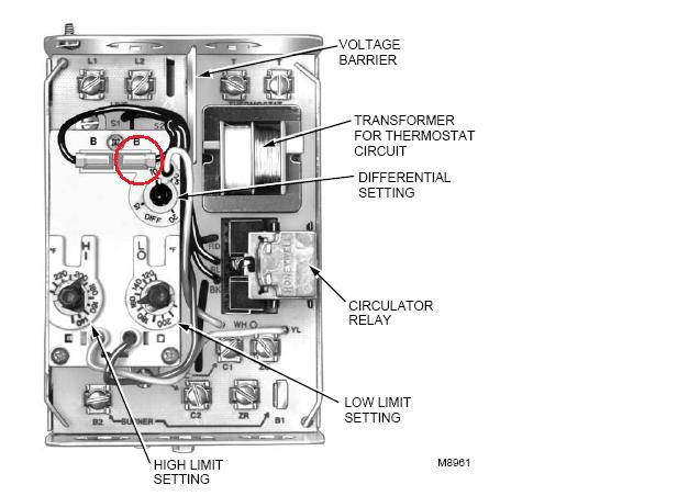 L8124A honeywell l8124a heating help the wall honeywell aquastat wiring diagram at bayanpartner.co