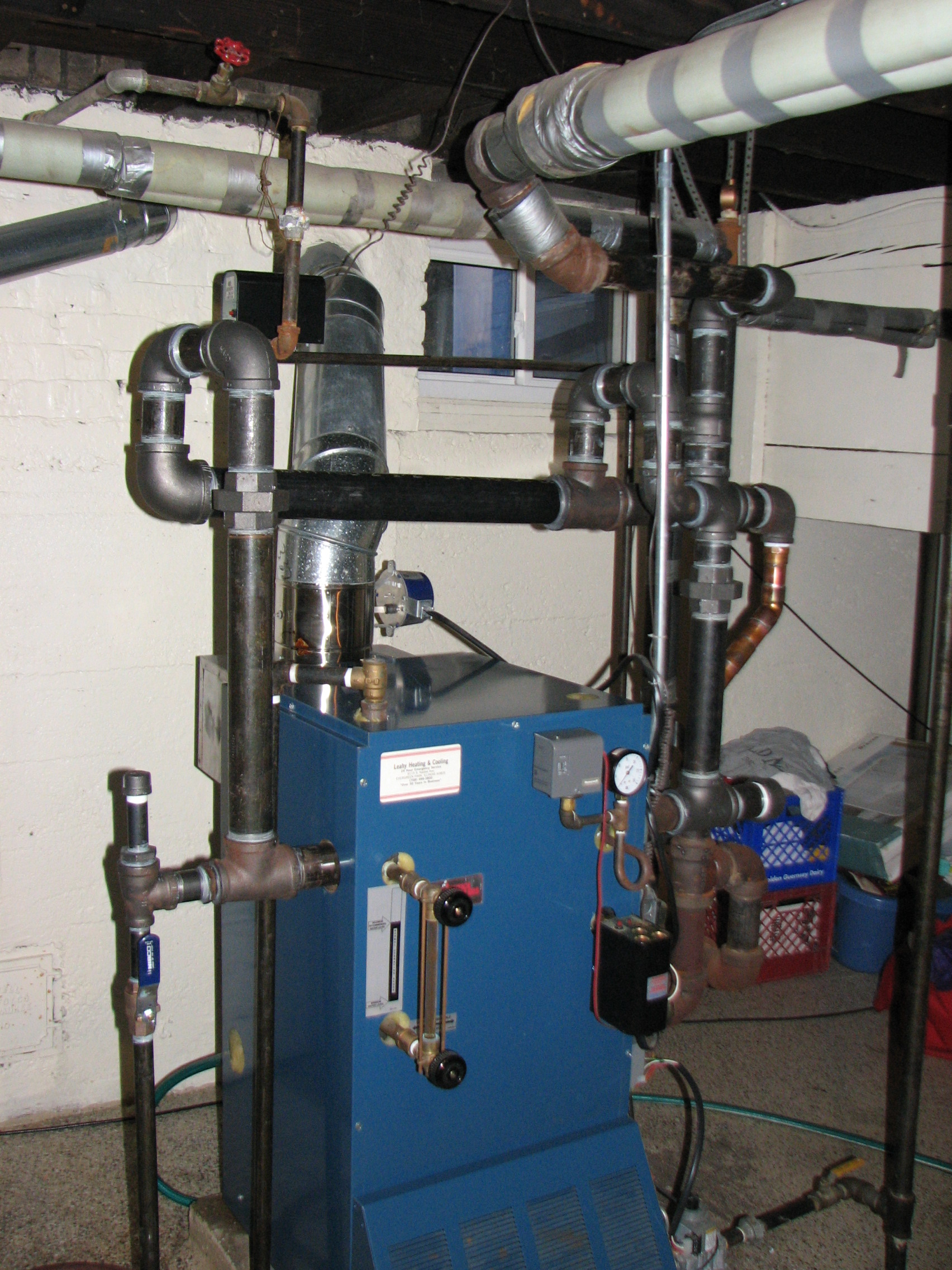 A steam boiler repipe...... — Heating Help: The Wall