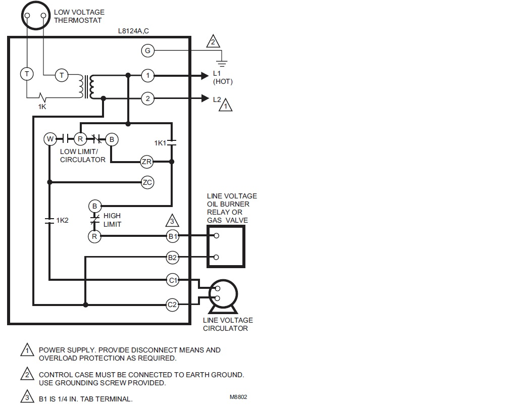 Honeywell Diagram Wiring B on
