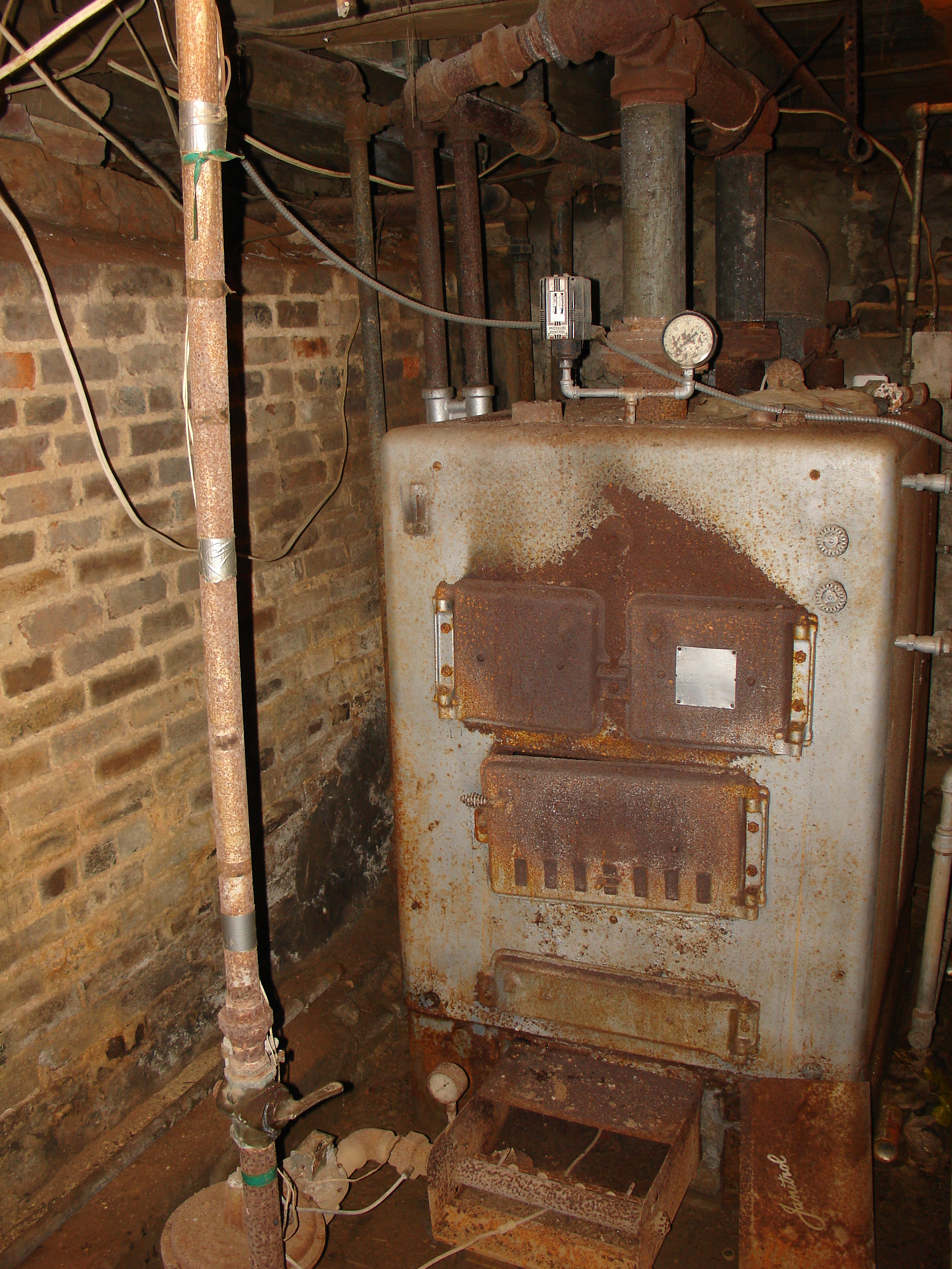 Old Boiler Ressurection Heating Help The Wall