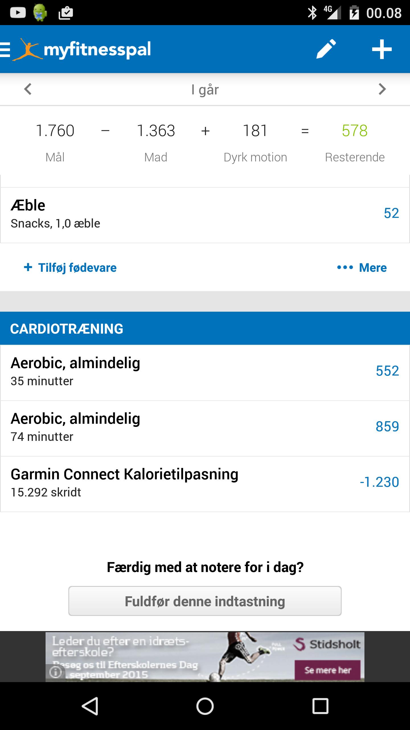 Garmin Vivoactive, Calorie adjustment, somethings gotta be