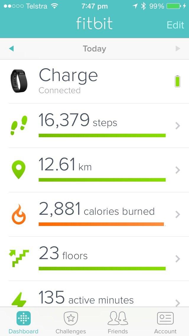 Fitbit Charge + MyFitnessPal + iOS Health — MyFitnessPal com