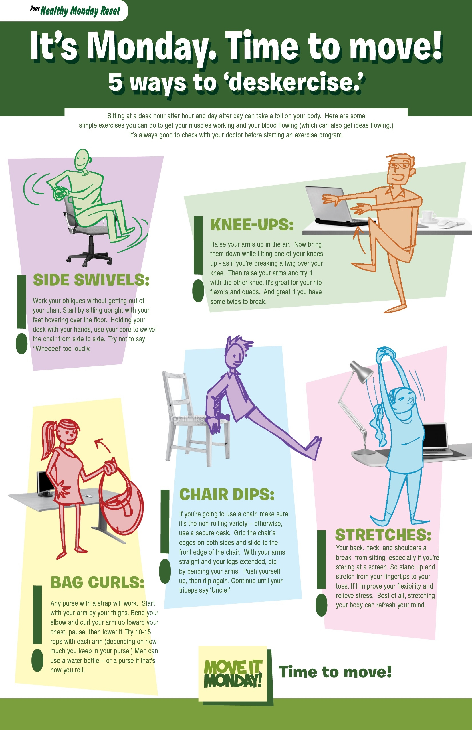 at recovery while desk exercises sitting bicep man exercise category