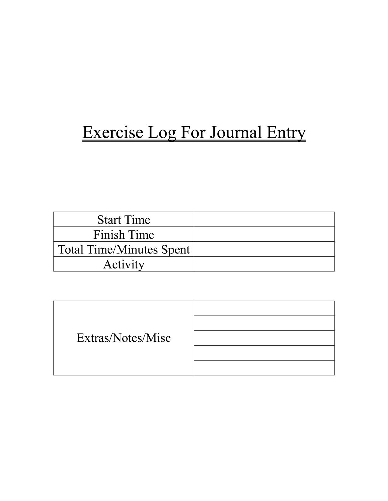 graphic about Printable Exercise Log named I taught myself how in direction of deliver printable fitness logs these days