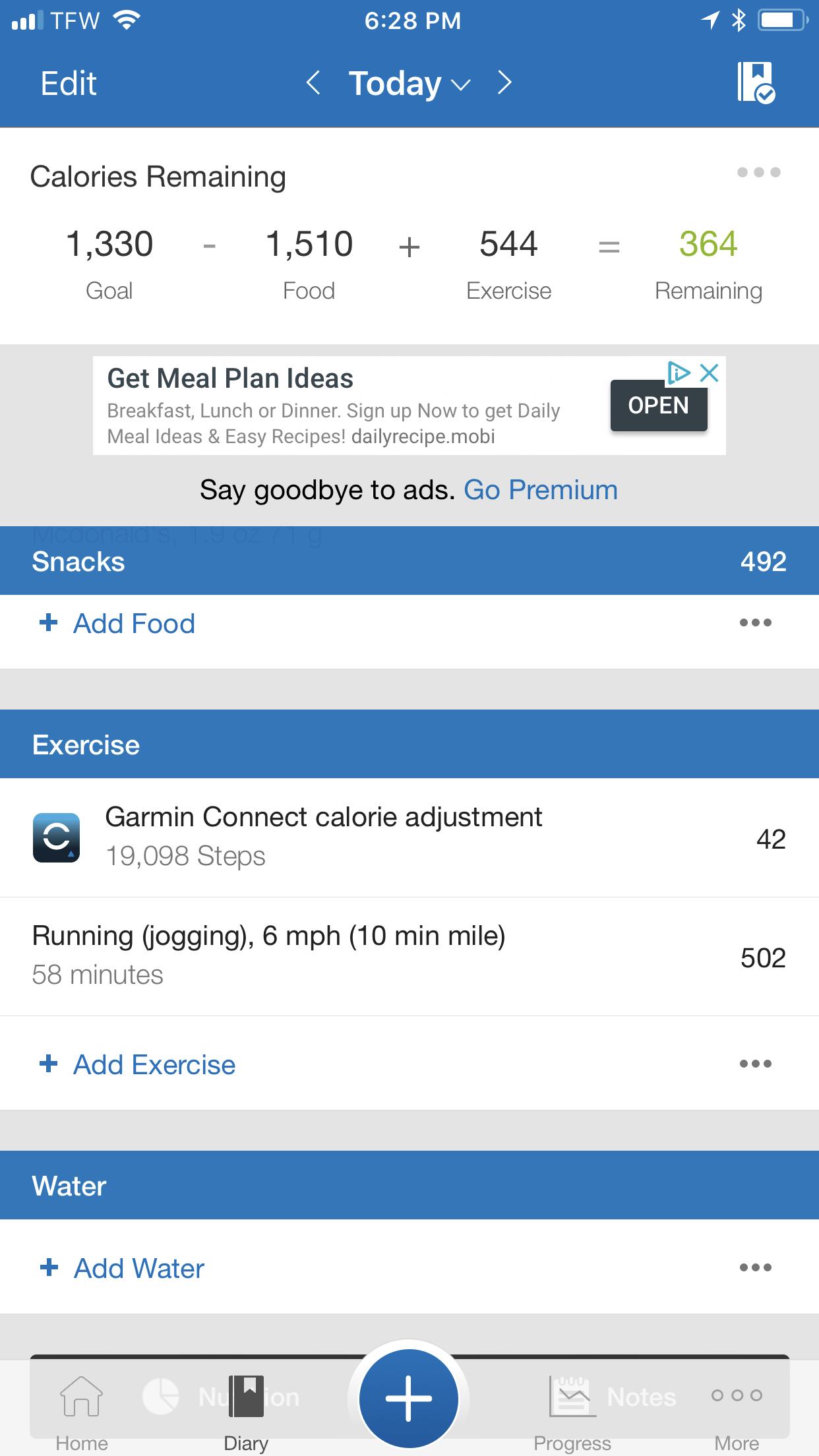 Garmin Calorie Count? — MyFitnessPal com