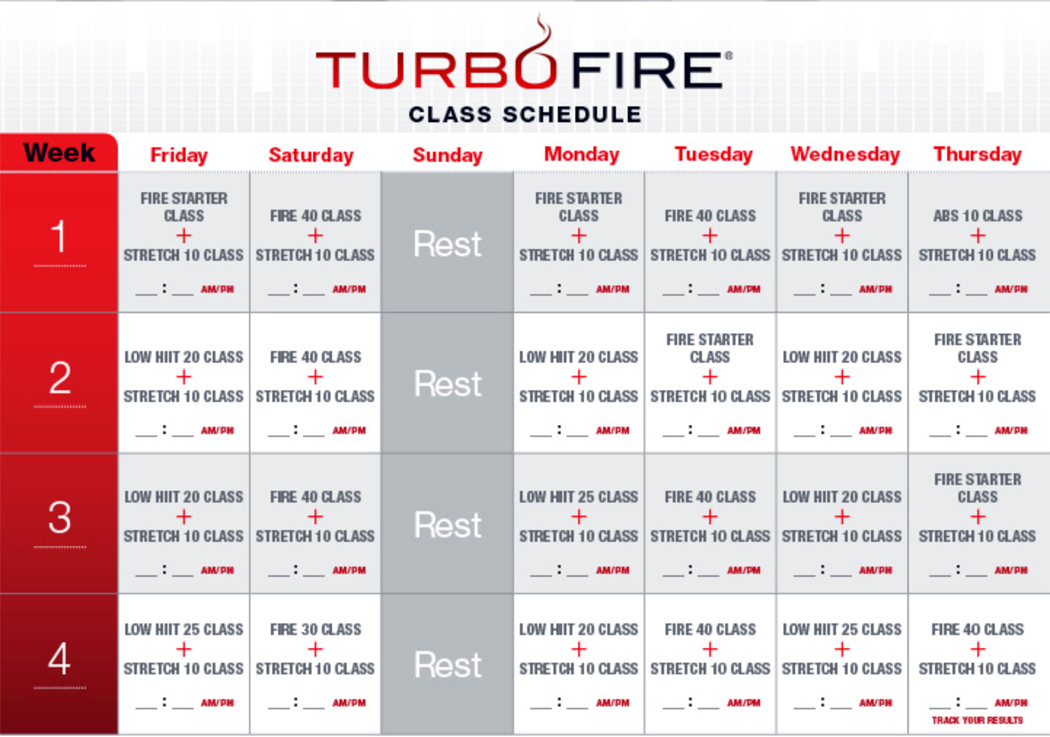 Starting Turbo Fire in January — MyFitnessPal.com