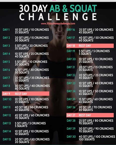 30 Day Ab Squat Challenge Myfitnesspalcom