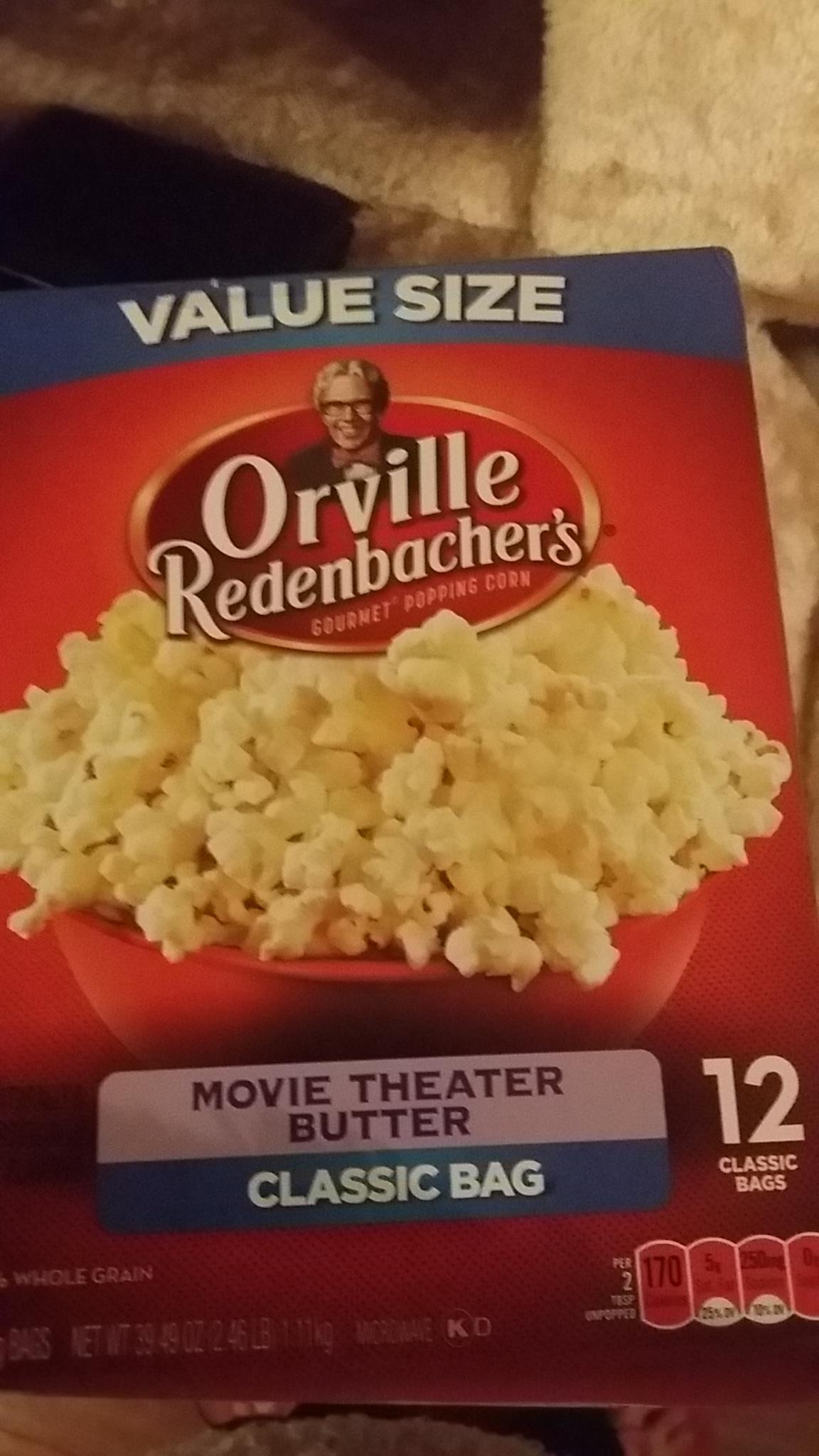 Orville Redenbacher S Movie Theater Butter Classic Bag Myfitnesspal Com