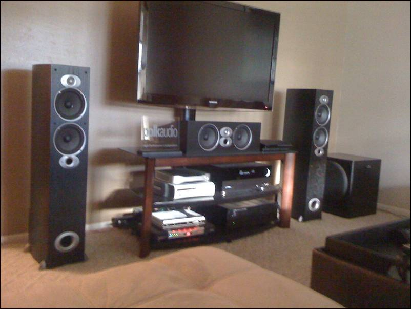 New Tv Stand Center Channel Placement Polk Audio