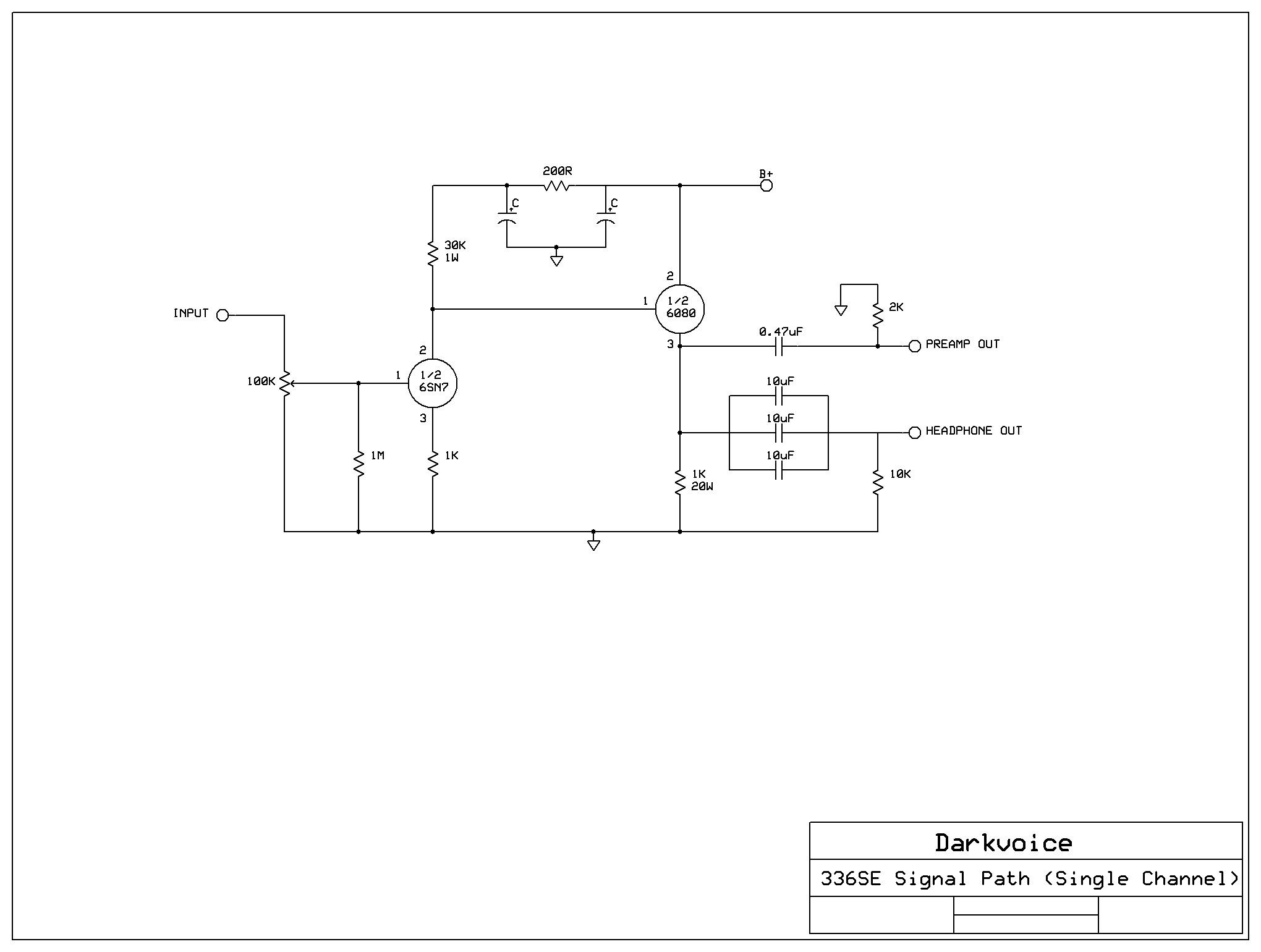 Yaqin Cd3 Darkvoice 336se Mods Coupling Caps Polk Audio Headphone Cable Wiring Diagram Signal Path