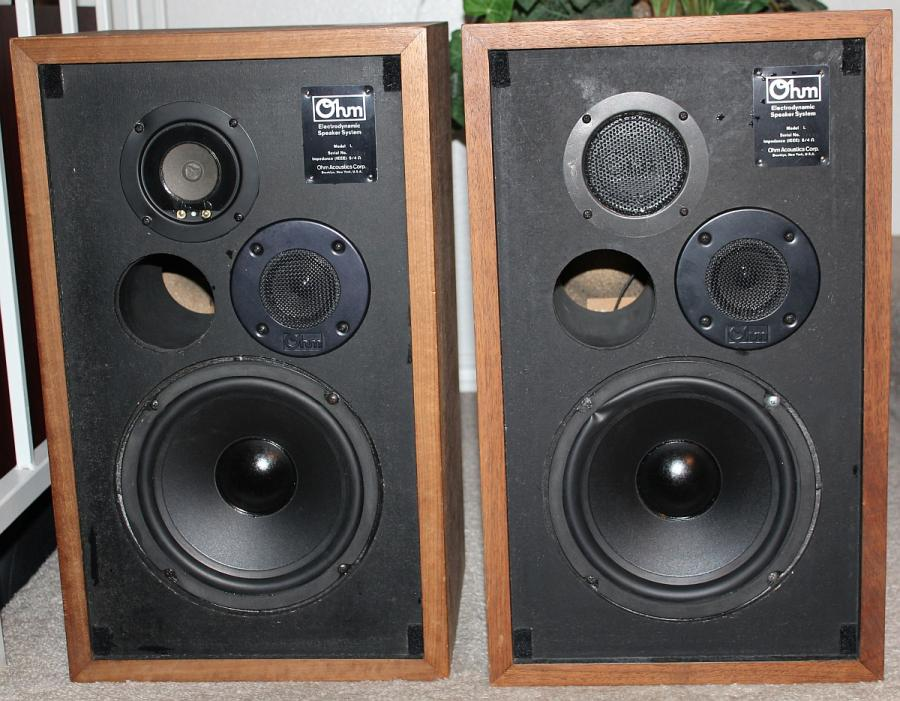 OHM L Speakers with new generic replacement woofers — Polk Audio