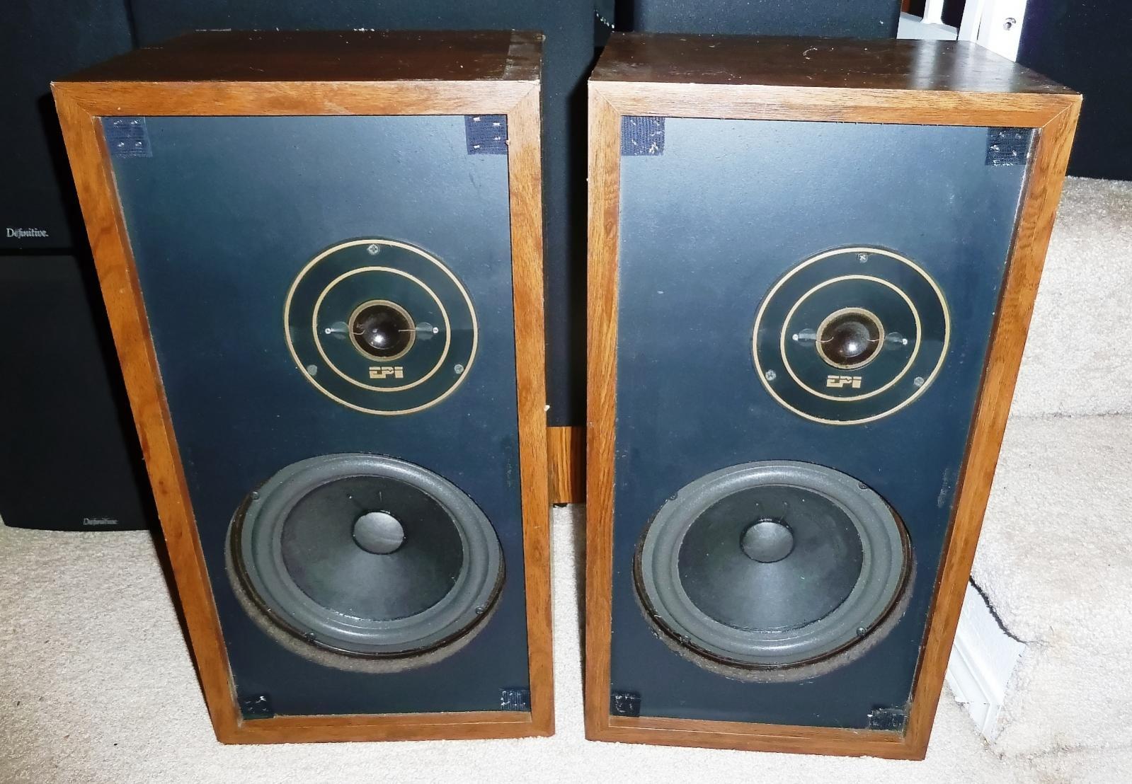 FS: Vintage EPI Epicture 100v speakers - refoamed and capacitor