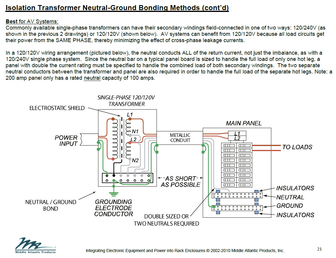 Audio Isolation Transformers Transformer Schematic Using An To Reduce Line Noise Polk