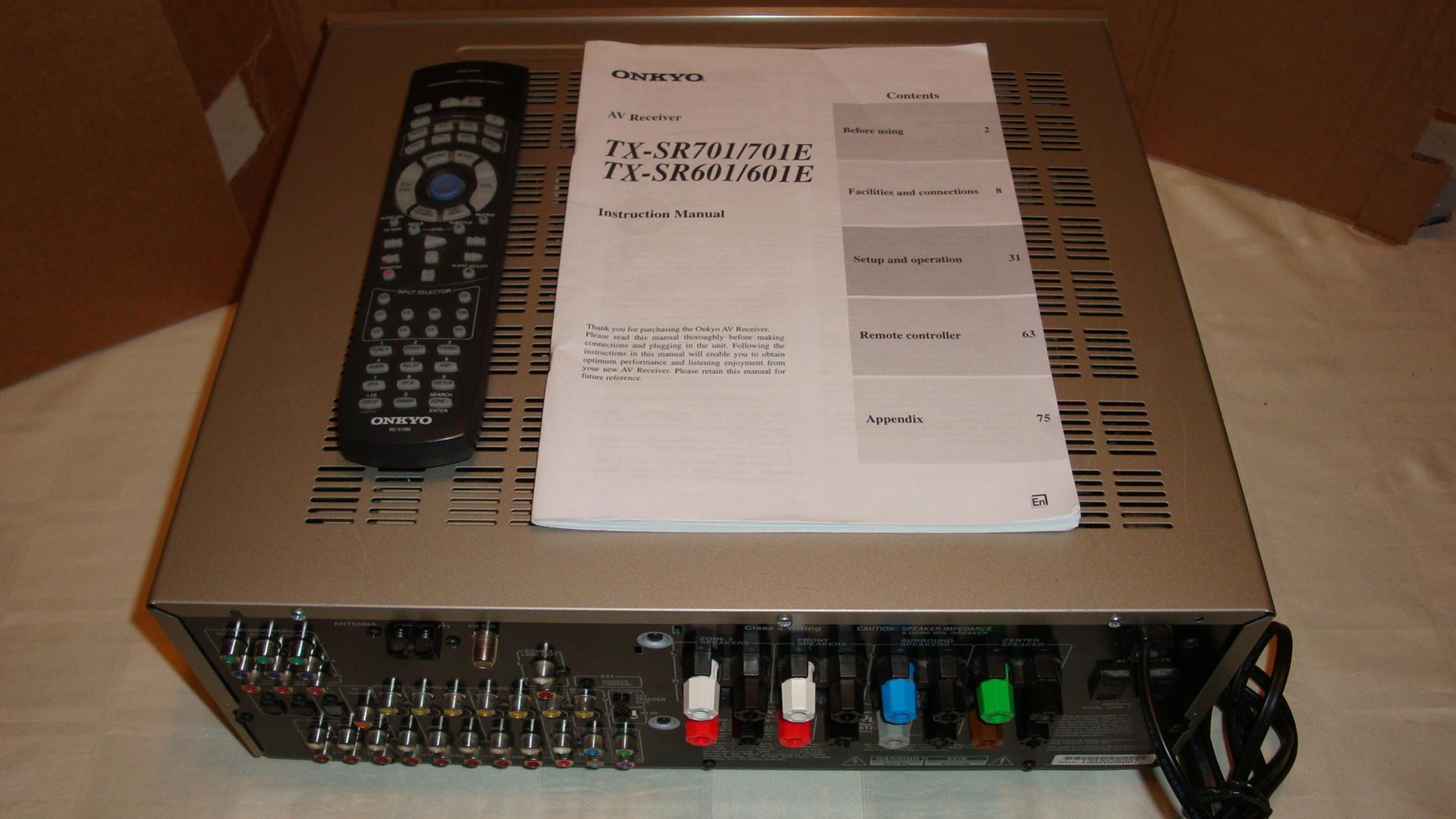 onkyo tx sr601 surround receiver polk audio rh forum polkaudio com onkyo tx-sr601 manual pdf onkyo tx-sr601 review