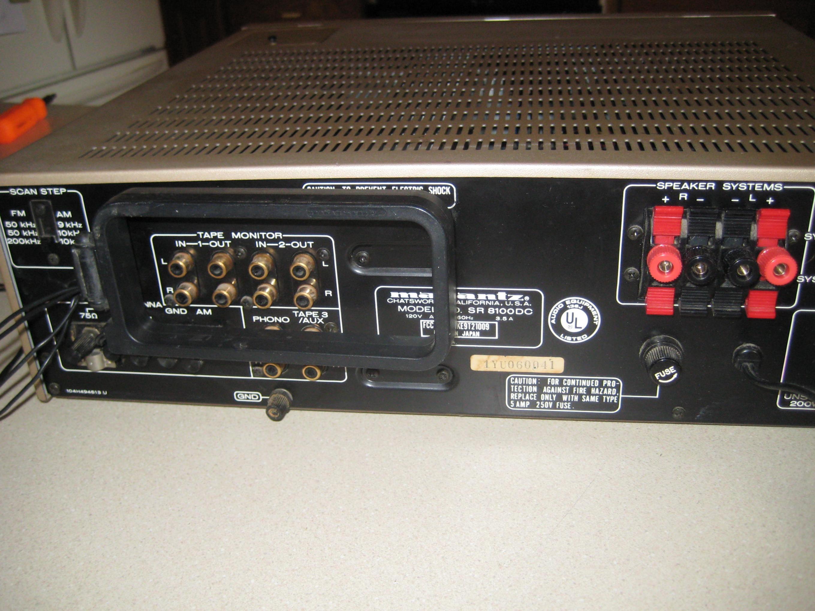 Very Nice Marantz Sr 8100dc 70w Ch Gold Series 1981 Polk Audio Fm Amplifier 014 5319k