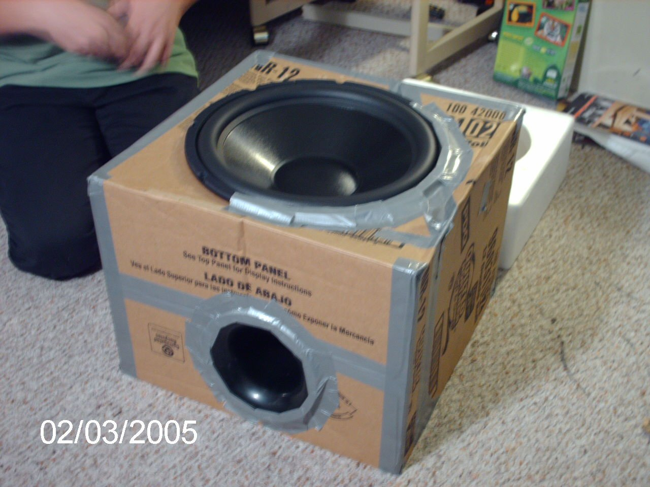 Cool Speaker Boxes playing around with cardboard — polk audio