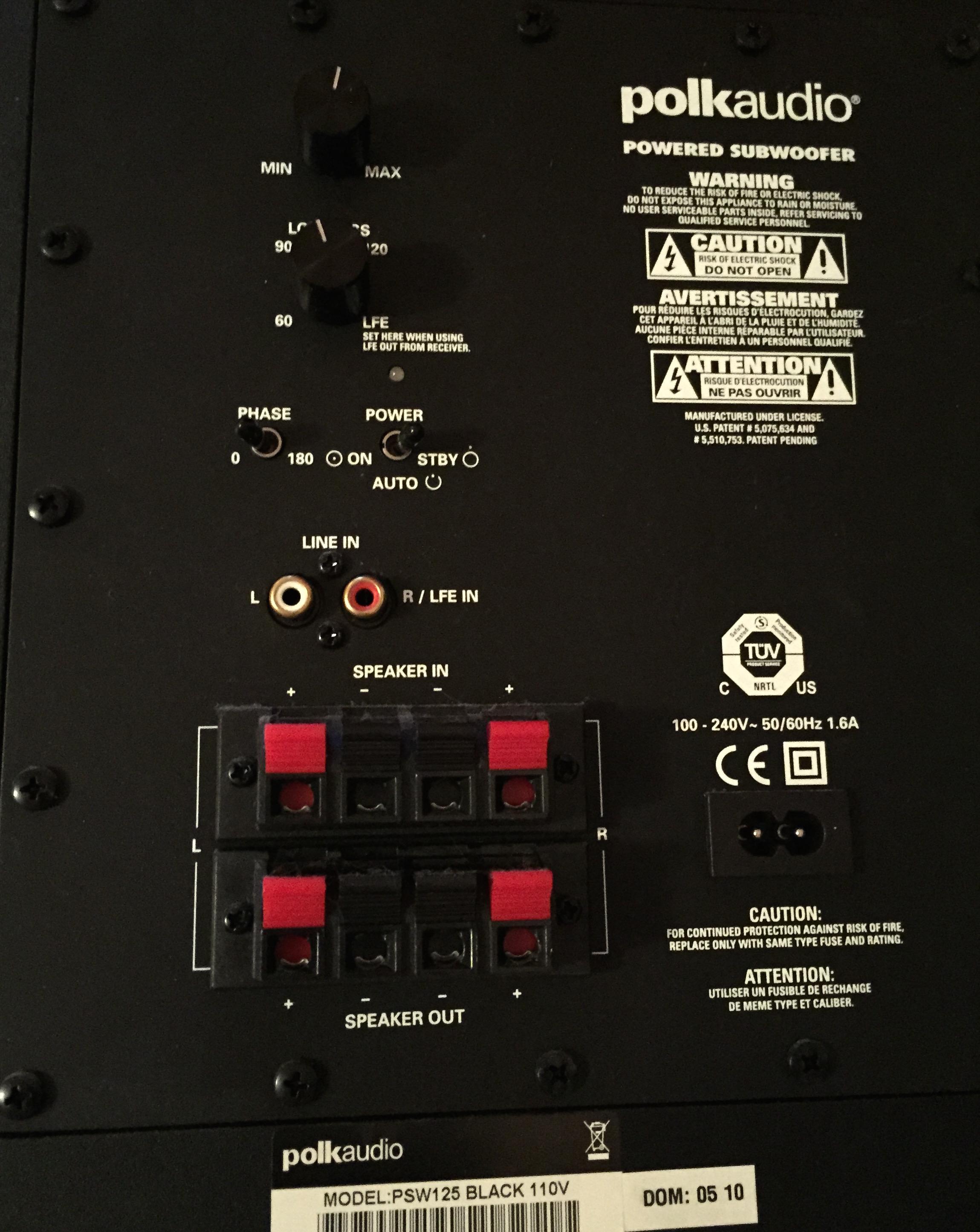 Polk Audio Subwoofer Fuse Find Wiring Diagram Rh Blaknwyt Co Blown