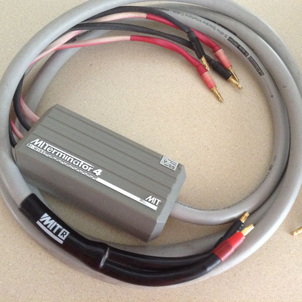Nice MIT Terminator 4 bi wire 10 foot speaker cables with bananas ...