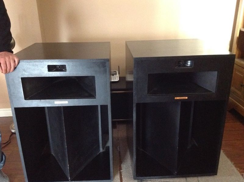 1979 klipsch la scala 39 s for my 2 channel set up polk audio. Black Bedroom Furniture Sets. Home Design Ideas
