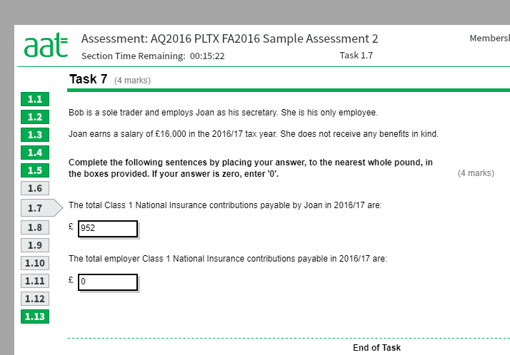 Aat intermediate past papers answers - Coursework Example
