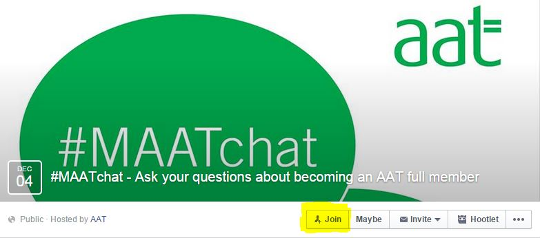 AAT #MAATchat event page